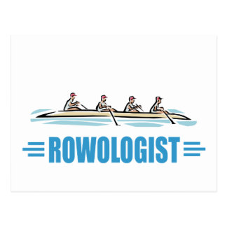 Humorous Rowing Postcard