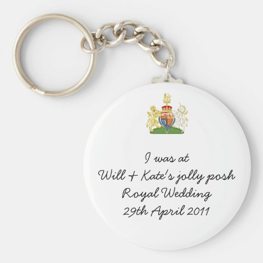 Humorous Royal Wedding Keyring