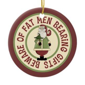 Humorous Santa Ornament
