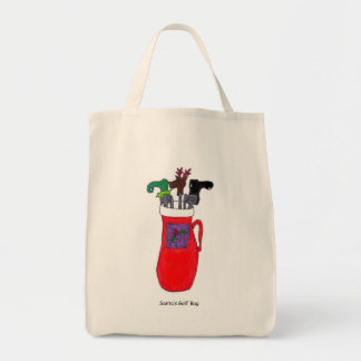 Humorous Santa's Golf Bag Tote Bag