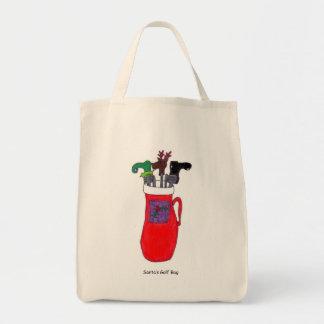 Humorous Santa's Golf Bag Tote Bag