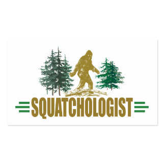 Humorous Sasquatch, Bigfoot Double-Sided Standard Business Cards (Pack Of 100)