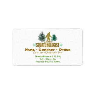 Humorous Sasquatch, Bigfoot Label