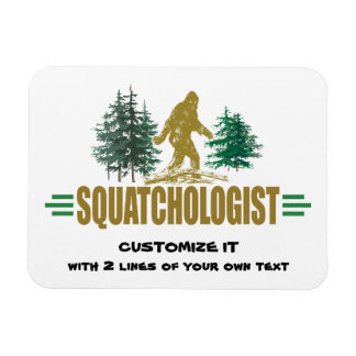 Humorous Sasquatch, Funny Big Foot Magnet