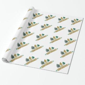 Humorous Sasquatch Gift Wrap