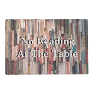 Humorous Sayings on Stacks of Books Placemat