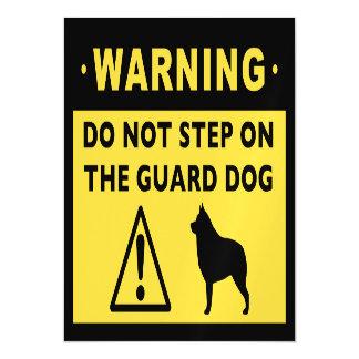 Humorous Schipperke Guard Dog Warning Magnetic Card