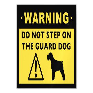 Humorous Schnauzer Guard Dog Warning Magnetic Card