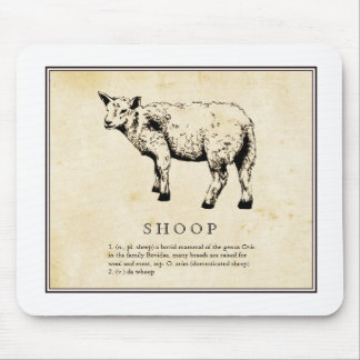 Humorous Scientific Illustration - Shoop (Sheep) Mouse Pad