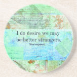 Humorous Shakespeare Insult quote Coasters