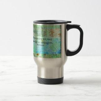 Humorous Shakespeare Insult quote Stainless Steel Travel Mug