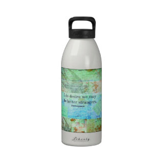 Humorous Shakespeare Insult quote Reusable Water Bottles