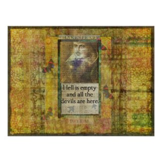 Humorous Shakespeare QUOTE art print