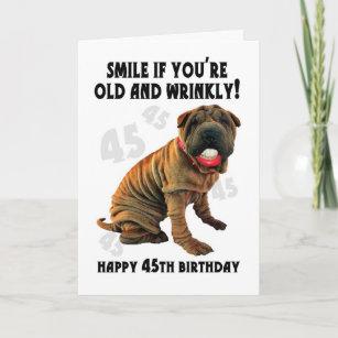 Shar Pei Dog Sleeping Birthday Customised Card