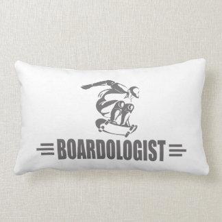 Humorous Skateboarding Lumbar Pillow