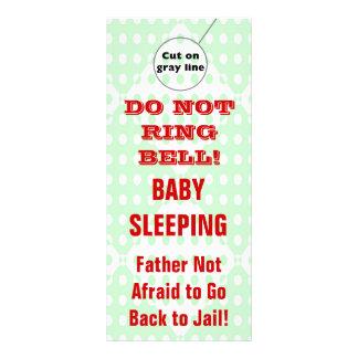 Humorous Sleeping Baby Door Hangers Doorhanger Rack Card