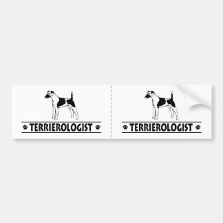 Humorous Smooth Fox Terrier Bumper Sticker