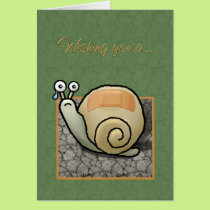 """Humorous snail """"Speedy recovery"""" card"""