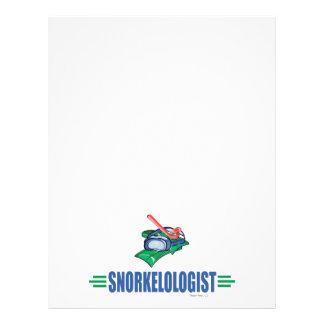 Humorous Snorkeling Flyers