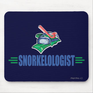Humorous Snorkeling Mouse Pad