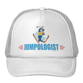 Humorous Snow Ski Jumping Trucker Hat