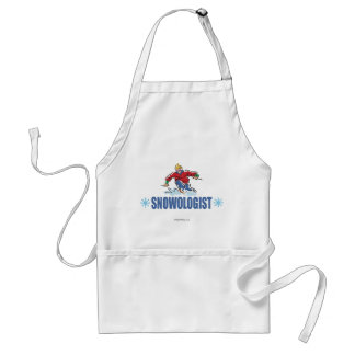 Humorous Snow Skiing Adult Apron