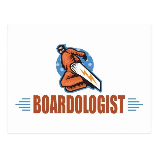 Humorous Snowboarding Postcard