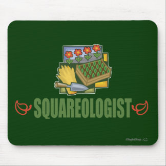 Humorous Square Foot Gardening Mouse Pad