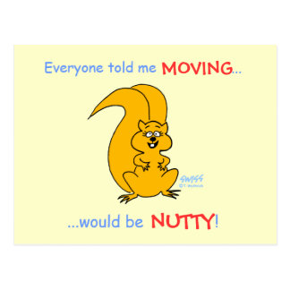 Humorous Squirrel Moving Announcement Post Card