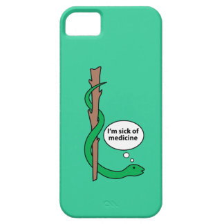 Humorous Staff of Asclepius iPhone 5 Case