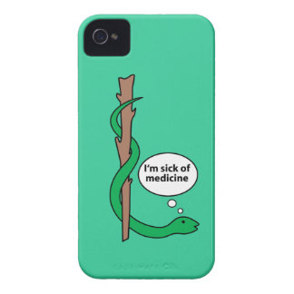 Humorous Staff of Asclepius iPhone 4 Cover