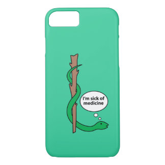 Humorous Staff of Asclepius iPhone 8/7 Case