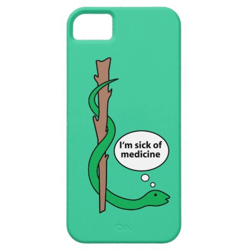 Humorous Staff of Asclepius iPhone SE/5/5s Case