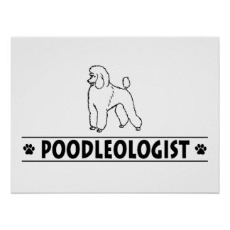 Humorous Standard Poodle Poster