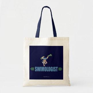 Humorous Swimming Budget Tote Bag
