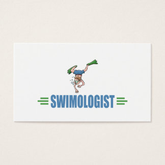 Humorous Swimming Business Card