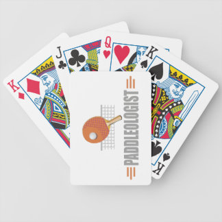 Humorous Table Tennis Bicycle Playing Cards