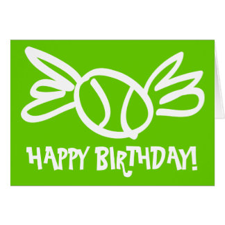 Humorous tennis card for Birthdays