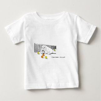 Humorous Tennis Playing Dog Baby T-Shirt