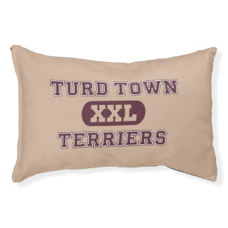 Humorous Terrier Sports Team Dog Bed