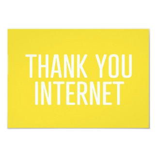 HUMOROUS THANK YOU INTERNET FUNNY EXPRESSIONS LAUG CARD