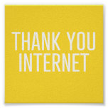 HUMOROUS THANK YOU INTERNET FUNNY EXPRESSIONS LAUG POSTER
