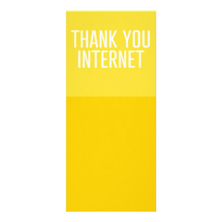 HUMOROUS THANK YOU INTERNET FUNNY EXPRESSIONS LAUG RACK CARD