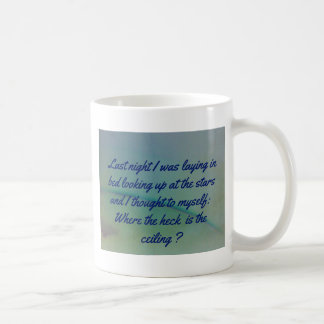 Humorous Thinking to Self Quote on Sky Background Coffee Mug