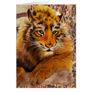 Humorous Tiger Cub Card