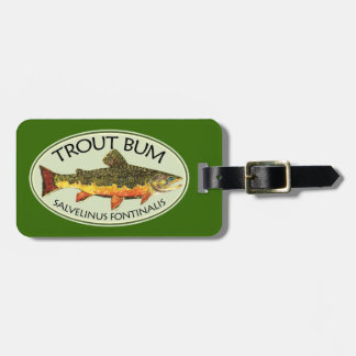 Humorous Title for Trout Addicts Tag For Bags