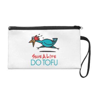 Humorous Tofu Design Wristlet Purse