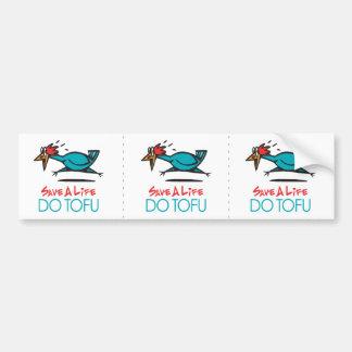 Humorous Tofu Design Car Bumper Sticker