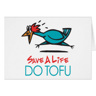 Humorous Tofu Design Card