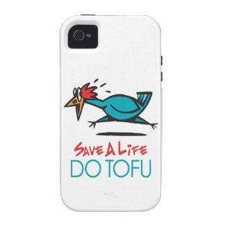Humorous Tofu Design Vibe iPhone 4 Case